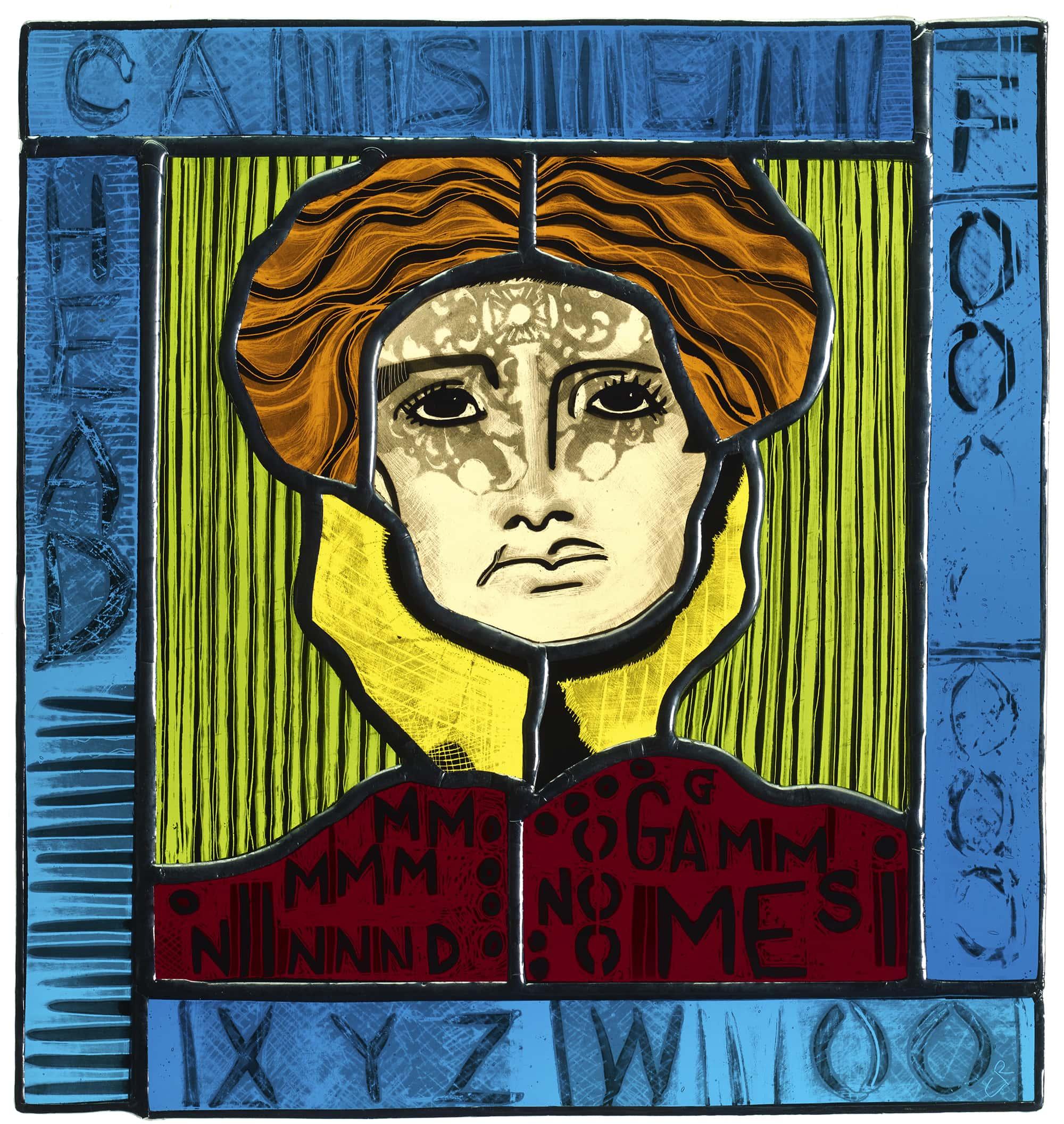 Glass Painting Headcase 20cm x 22cm